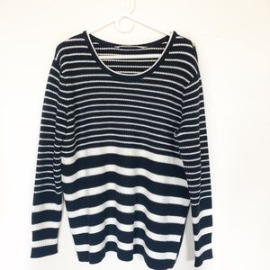 : Athleta Striped Kennewick Sweater Size Medium